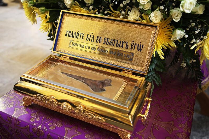 ковчег с мощами святителя Феофана Затворника